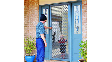 diamond grille security doors